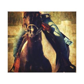 Let That Pinto Pony Run Canvas Print