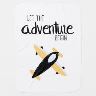 Let the Adventure Begin 01 Blanket