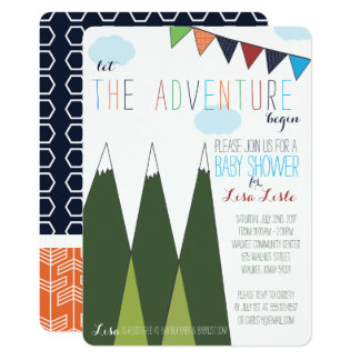 Let the Adventure Begin Baby Shower Card
