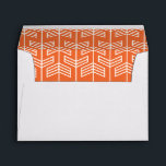 """Let the Adventure Begin Baby Shower Envelope<br><div class=""""desc"""">Let the Adventure Begin Baby Shower has green mountains,  a colorful banner,  and sky blue clouds. The back features a bold orange arrow pattern and navy geometric pattern.  This design was inspired by Target&#39;s Orange &amp; Navy Arrow Nursery Room https://www.target.com/p/orange-&amp;-navy-arrow-nursery-room/-/A-51122893</div>"""