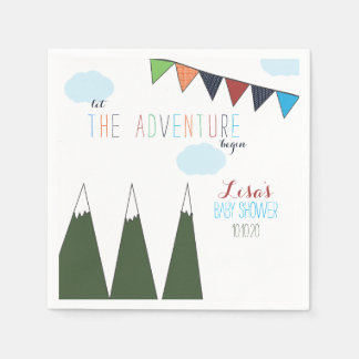 Let the Adventure Begin Baby Shower Paper Napkin