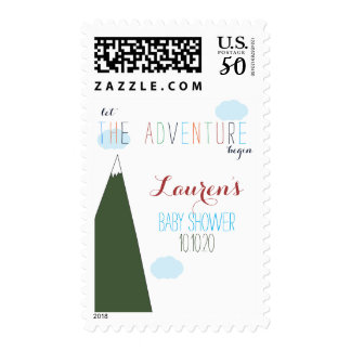 Let the Adventure Begin Baby Shower Postage