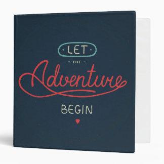 Let The Adventure Begin Binder