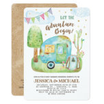 Let the Adventure Begin Camping Baby Shower Invitation