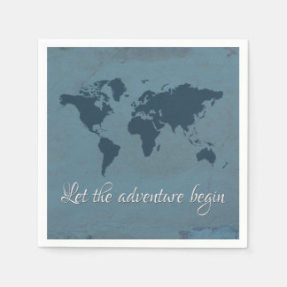 Let the adventure begin paper napkin