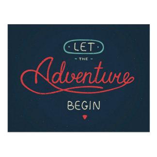 Let The Adventure Begin Postcard