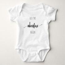 Let the Adventure Begin Quote Baby Bodysuit