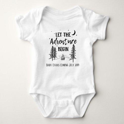 Let the Adventure Begin Rustic Baby Bodysuit