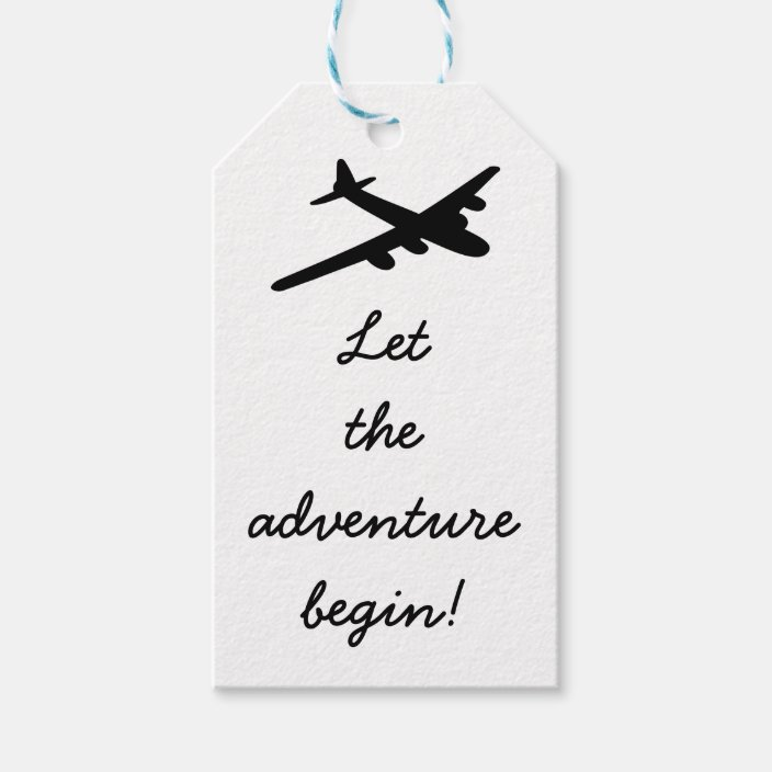 adventure begin Travel Theme Gift Tags