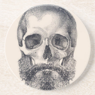 let the beard live forever drink coaster