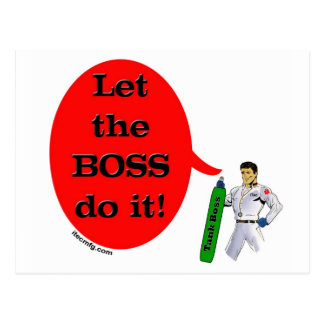 Let the BOSS do it! Postcard