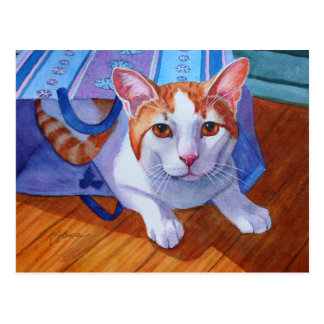 Let the Cat out of the Bag Postcard