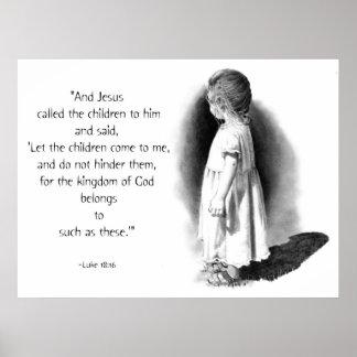 LET THE CHILDREN COME: JESUS: PENCIL ART PRINT