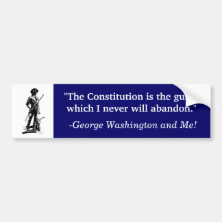 Let the Constitution be your Guide Bumper Sticker