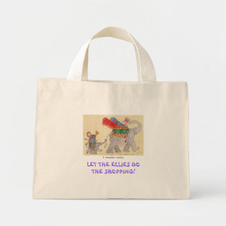 Let the Ellies do the Shopping Mini Tote Bag