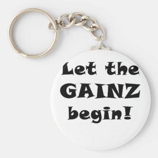 Let the Gainz Begin Keychain