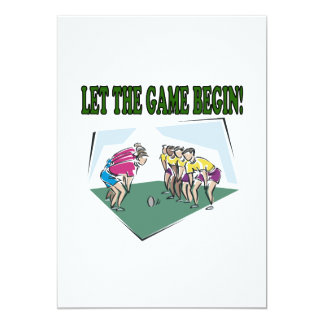 Let The Game Begin Card