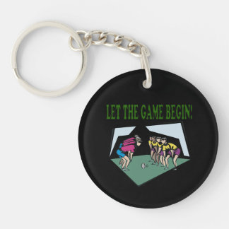 Let The Game Begin Keychain