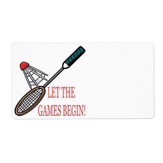 Let The Games Begin Label