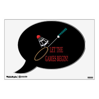 Let The Games Begin Wall Sticker
