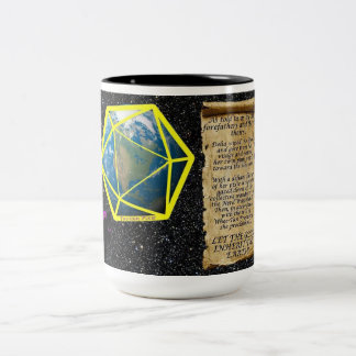 Let The Geek Inherit The Earth! Two-Tone Coffee Mug