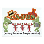"Let the Good Times Roll! Cajun Style! SRF 5"" X 7"" Invitation Card"