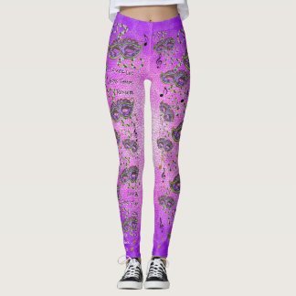Let The Good Times Roll - Mardi Gras Leggings