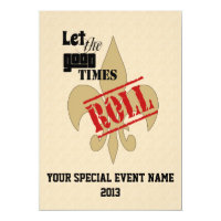 Let the Good Times Roll Special Event Party Card