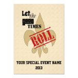 Let the Good Times Roll Special Event Party Custom Announcement
