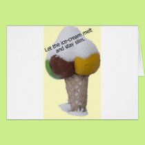 Let the ice-cream melt and stay slim-product. card