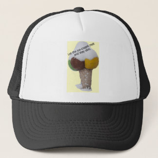 Let the ice-cream melt and stay slim-product. trucker hat