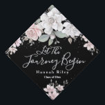 """""""Let The Journey Begin"""" Tassel Topper<br><div class=""""desc"""">Modern floral graduation tassel topper including the inspirational quote: """"Let The Journey Begin."""" If desired,  you can personalize your topper with your name and class year. If you need assistance with placement or customizing,  please use the """"Message"""" link on the right hand side of this page.</div>"""