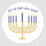 Let The Light Shine Bright Classic Round Sticker