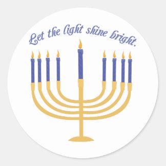 Let The Light Shine Bright Classic Round Sticker