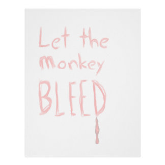 Let the Monkey Bleed, in red hand drawn text Letterhead
