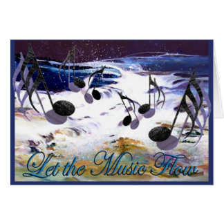 Let the Music Flow Card