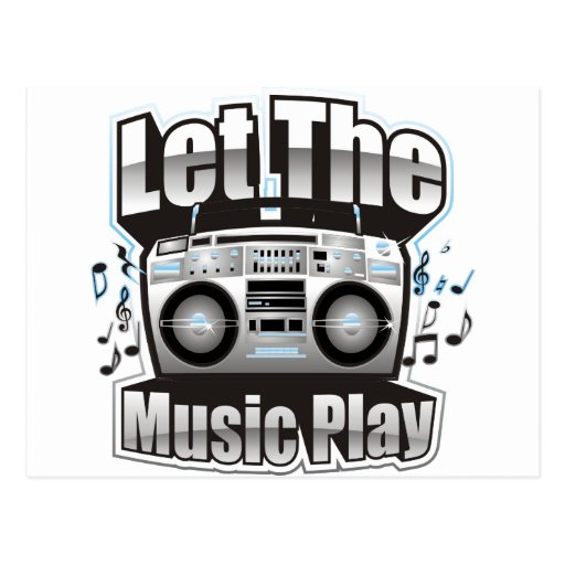 Let the Music PLay Postcard