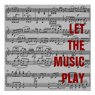 let the music play poster
