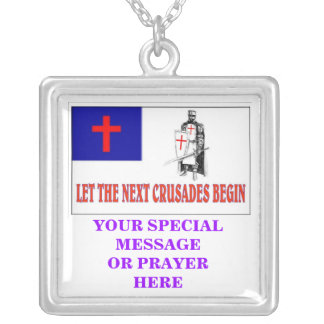 LET THE NEXT CRUSADES BEGIN, YOUR SPECIAL MESSA... SQUARE PENDANT NECKLACE