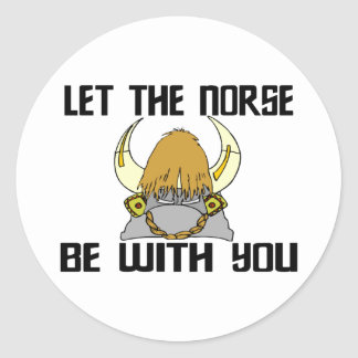 Let The Norse Be With You Classic Round Sticker