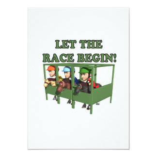 Let The Race Begin 5x7 Paper Invitation Card