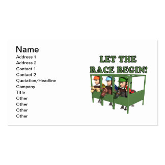 Let The Race Begin Business Card Template