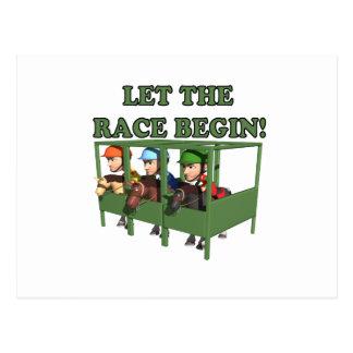 Let The Race Begin Postcard