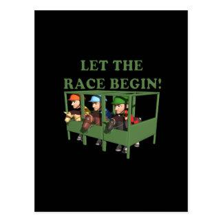 Let The Race Begin Postcards