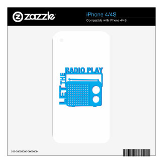 Let the Radio Play Decal For The iPhone 4S