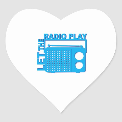 Let the Radio Play Heart Sticker