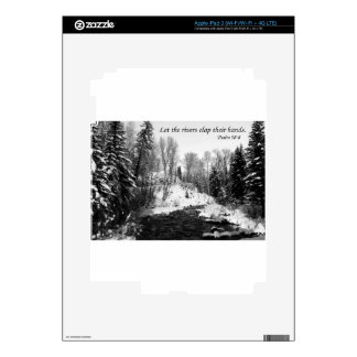 Let the Rivers Clap their Hands Decal For iPad 3