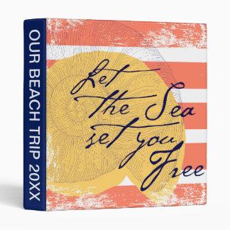 Let the Sea Set You Free Binder