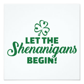 Let the shenanigans begin card
