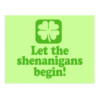 Let The Shenanigans Begin Postcard
